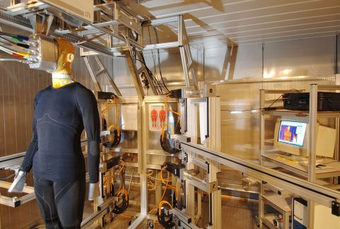 Thermal sweating manikins and instruments for characterisation of wearing comfort