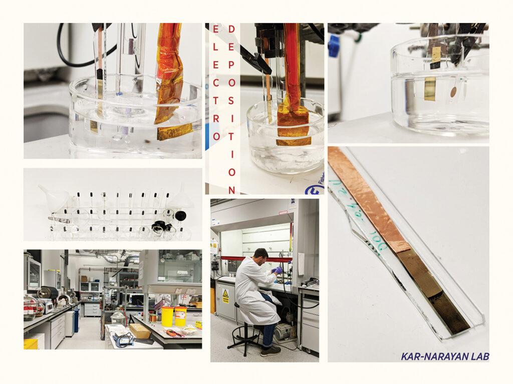 Tommaso working on the pH electrode at Kar-Narayan Lab - University of Cambridge.